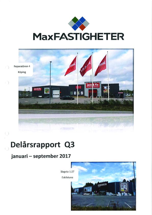 Delårsrapport Q3